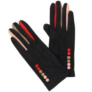 Colourful Fingers Black Boxed Gloves
