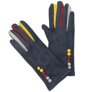 Colourful Fingers Navy Boxed Gloves