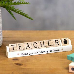 Teacher Scrabble Plaque