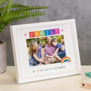 Rainbow Scrabble Family Frame 6 x 4