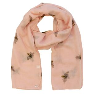 Busy Bees Detailed Pink Boxed Scarf