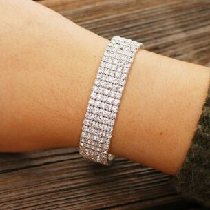 Silver Plated Diamond Sparkle Bracelet