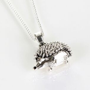 Hedgehog Silver Plated Boxed Necklace