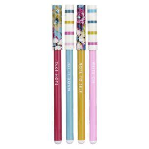 Joules Cambridge Floral Set of 4 Pens