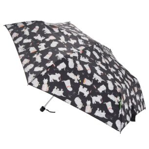 Eco Chic Black Scotty Dogs Mini Umbrella