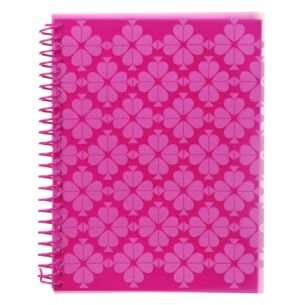 Neon Pink Spade Flower Small Spiral Notebook
