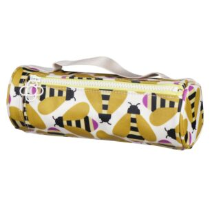 Busy Bee Brush & Pencil Case Cosmetic Bag