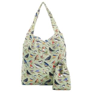 Eco Chic Green Wild Birds Foldaway Shopper