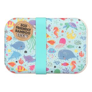 Leonardo's Little Stars Sea Life Bamboo Lunch Box