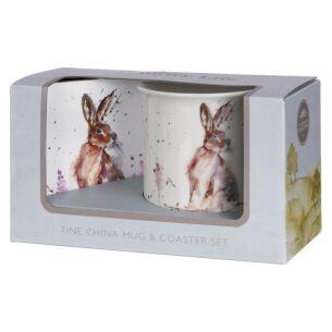 Country Life Hare Mug & Coaster Set