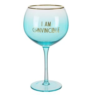 Let's Party 'I Am Ginvincible' Gin Balloon Glass