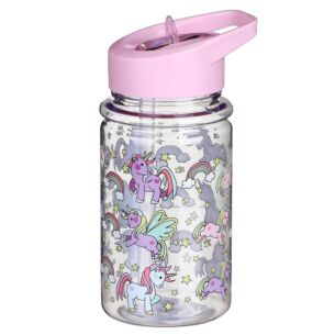 Unicorn Bottle with Straw