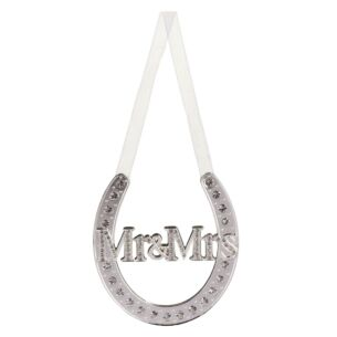 Silver Plated Mr & Mrs Horse Shoe