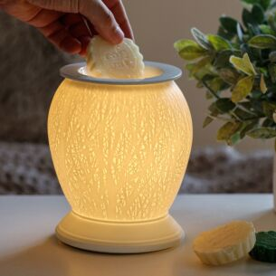 Desire Bulbous Woodland Aroma Ceramic Lamp Wax Melt Warmer