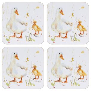 Country Life Set Of 4 Duck Coasters