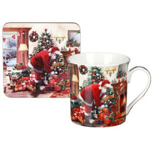 Christmas Santa Mug & Coaster Set