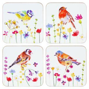 Garden Birds Set Of Four Coasters