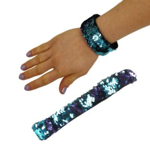 Turquoise/Violet Sequin Mermaid Wristband