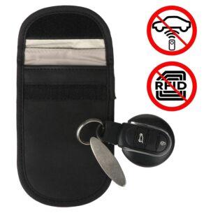 Car Key Signal Blocker Black Pouch