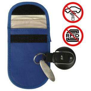 Car Key Signal Blocker Blue Pouch