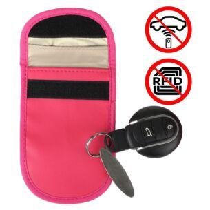 Car Key Signal Blocker Pink Pouch