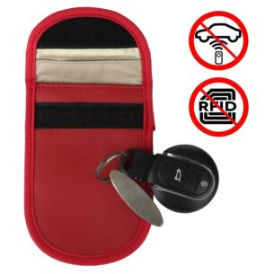 Car Key Signal Blocker Red Pouch