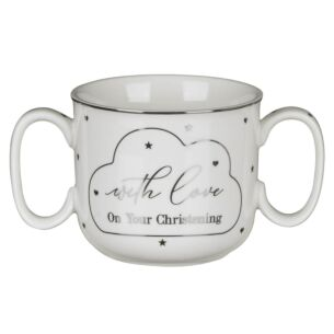 Double Handle Christening Mug