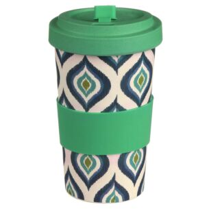 Large Geometric Slice Bamboo Travel Mug