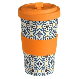 Large Stylised Floral Bamboo Travel Mug