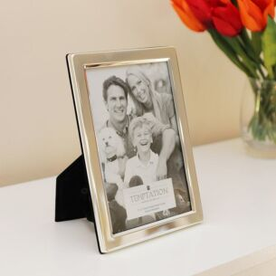 Silver Plated Wide Edge Photo Frame 7x5