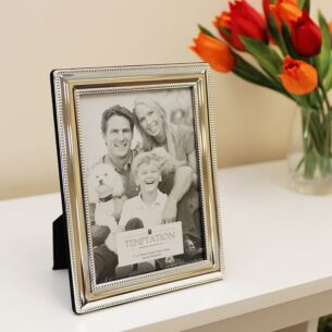 Silver Plated Bobble Edge Photo Frame 7x5