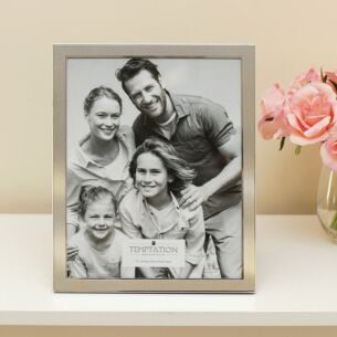 Silver Edged Photo Frame 10x8