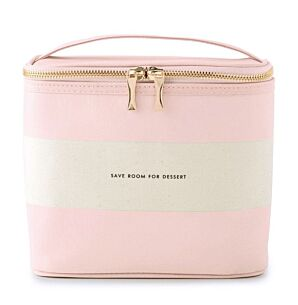 Blush Rugby Stripe Lunch Tote Bag