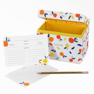 Kate Spade New York Citrus Twist Recipe Box