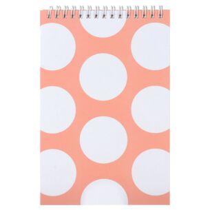 Peach Dots Top Spiral Small Notebook