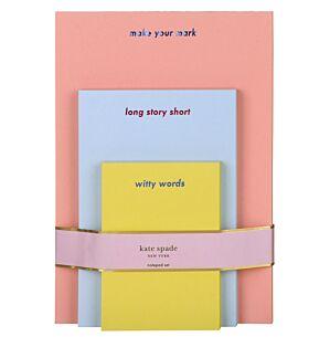 Make Your Mark Notepad Set