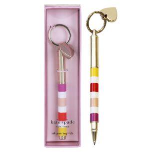 Candy Stripe Key fob Pen