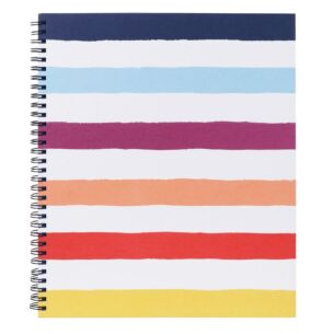 Candy Stripe Large Spiral Notebook