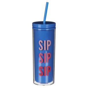 Sip Sip Sip Tumbler With Straw