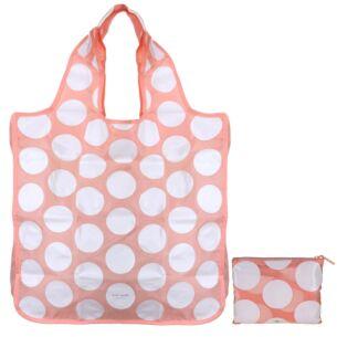 Peach Dots Reusable Shopper Tote