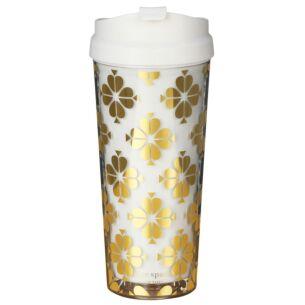 Gold Spade Flower Thermal Mug