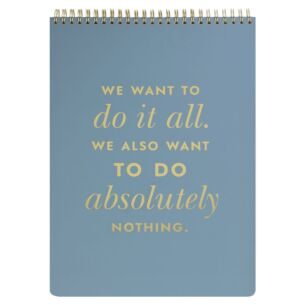 Do It All Spiral Top Large Notebook