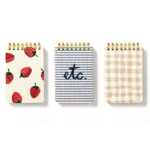 Kate Spade New York Spiral Notepad Set Strawberries