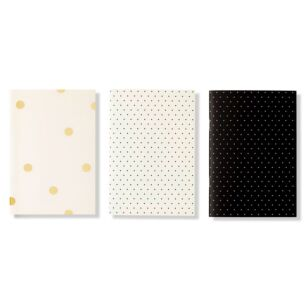 Kate Spade New York Black Dot Triple Notebook Set