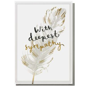 Louise Tiler 'Deepest Sympathy' Feather Greeting Card