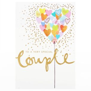 Louise Tiler 'Special Couple' Balloon Heart Card