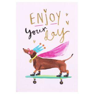 Louise Tiler 'Enjoy Your Day' Dachshund Card