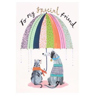 Louise Tiler 'Cat And Dog' Special Friend Card