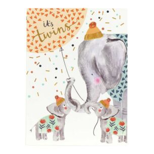 Louise Tiler 'It's Twins' Baby Card