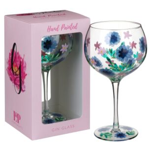 Lynsey Johnstone Hand Painted Cornflowers Gin Glass